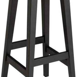 Černá barová stolička z dubového dřeva Rowico Frigg