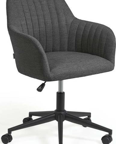 Tmavě šedá kancelářské židle La Forma Madina