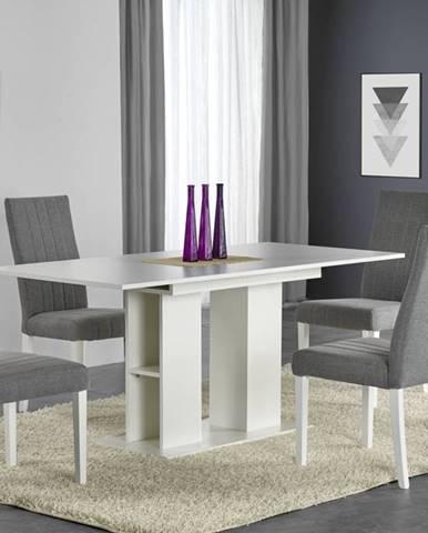 Jídelní stůl rozkládací KORNEL, 130/170x80 cm, bílá
