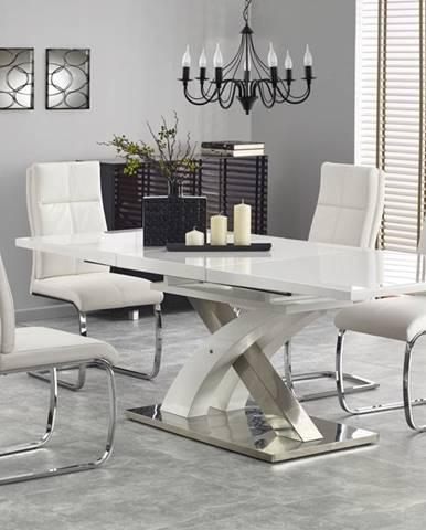 Jídelní stůl rozkládací SANDOR-2, 160/220x90 cm, bílý