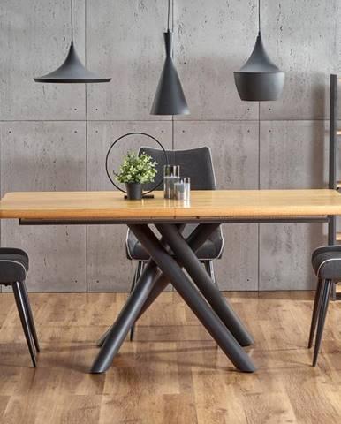 Rozkládací jídelní stůl DERRICK, dub/černá