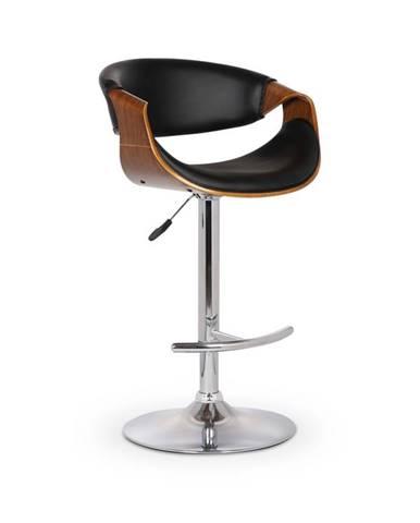 Barová židle H-100, ořech/černá