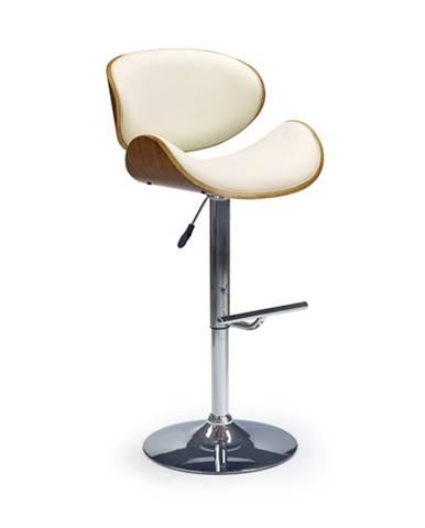 Barová židle ZH-44, krémová/ořech
