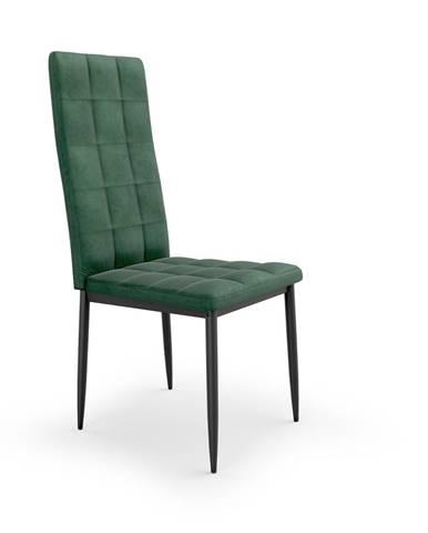 Jídelní židle K-415, tmavě zelená