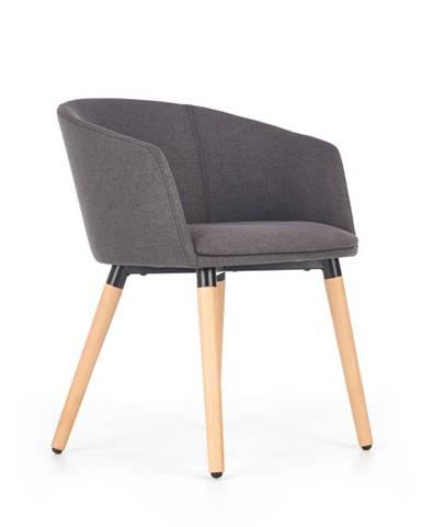 Jídelní židle K-266, tmavě šedá