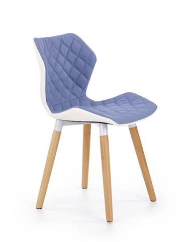 Jídelní židle K-277, modrá/bílá