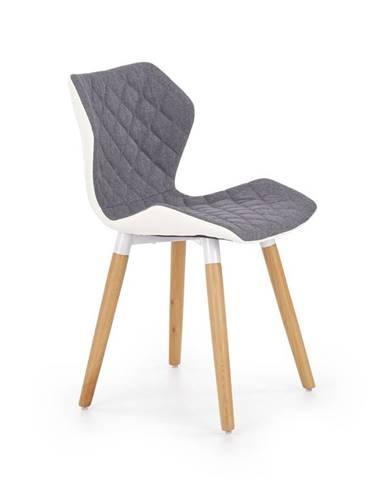 Jídelní židle K-277, šedá/bílá