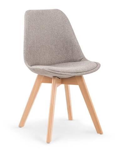 Jídelní židle K-303, světle šedá