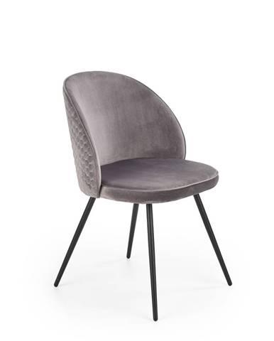 Jídelní židle K-395, šedá