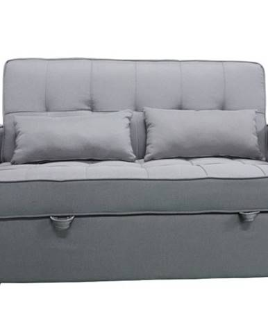 Rozkládací pohovka, šedá, FRENKA BIG BED NEW