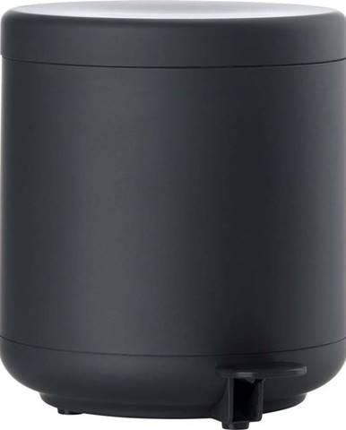 Černý koupelnový odpadkový koš s pedálem Zone UME, 4l