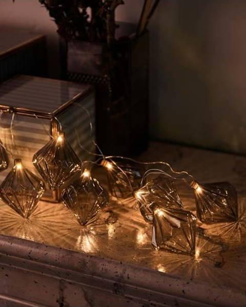 Sirius Světelný LED řetěz Sirius Nellie Grey, délka 180 cm
