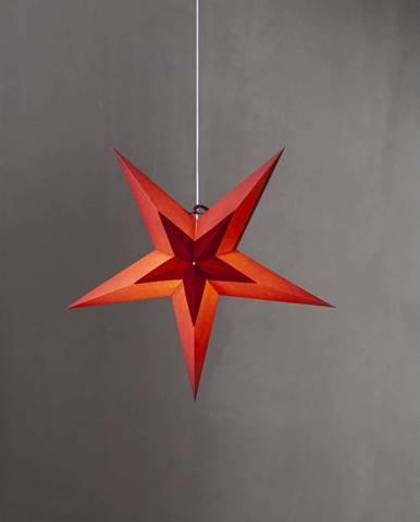 Červená vánoční dekorace Star Trading Diva