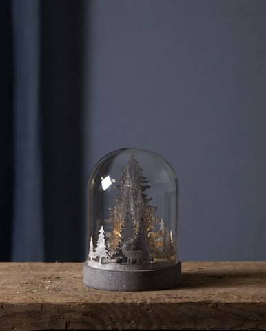 Hnědá vánoční světelná LED dekorace Star Trading Kupole