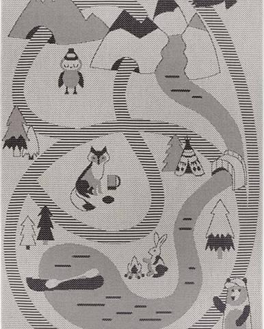 Šedý dětský koberec Ragami Animals, 160 x 230 cm