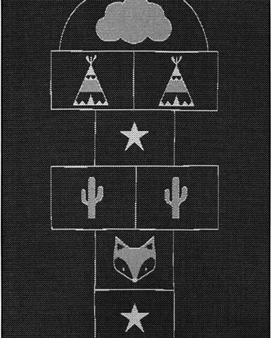 Černý dětský koberec Ragami Games, 160 x 230 cm