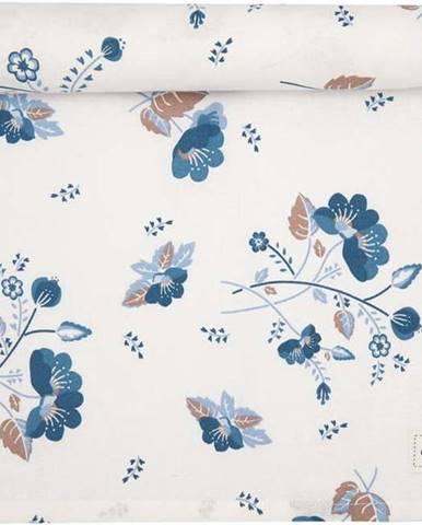 Modro-bílý bavlněný běhoun na stůl Green Gate Mozy,140x45cm