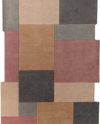 Vlněný koberec Flair Rugs Collage Earthy, 120 x 180 cm