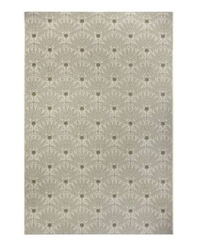 Zeleno-béžový venkovní koberec Ragami Amsterdam, 80 x 150 cm