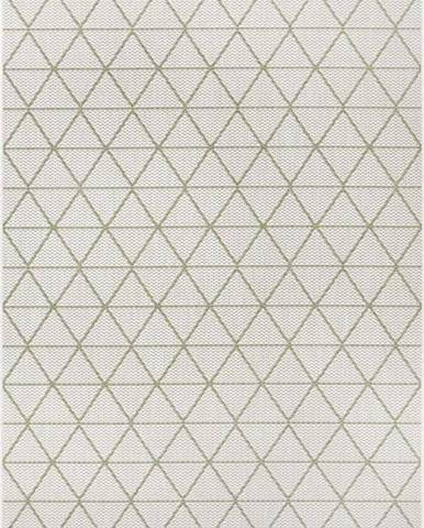 Zeleno-béžový venkovní koberec Ragami Athens, 200 x 290 cm