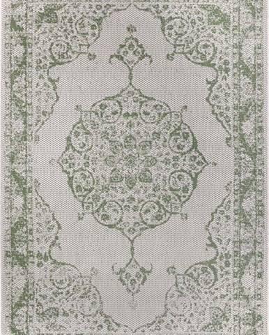 Zeleno-béžový venkovní koberec Ragami Oslo, 80 x 150 cm