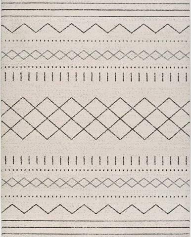 Béžový koberec Universal Akka Geo, 140 x 200 cm