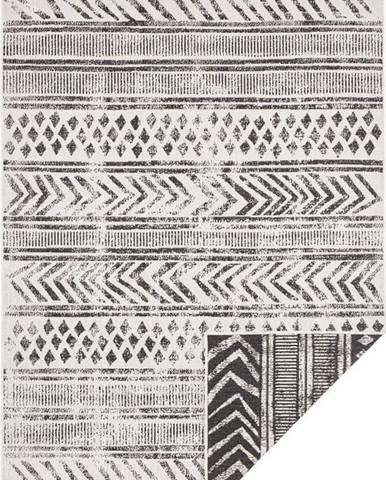 Černo-krémový venkovní koberec Bougari Biri, 80 x 150 cm