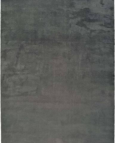 Tmavě šedý koberec Universal Berna Liso, 160 x 230 cm