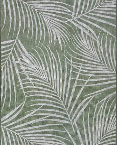 Zelený venkovní koberec Ragami Flora, 160 x 230 cm