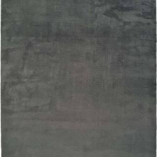 Tmavě šedý koberec Universal Berna Liso, 190 x 290 cm
