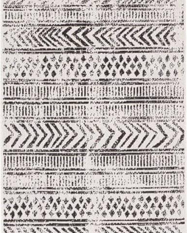 Černo-krémový venkovní koberec Bougari Biri, 80 x 350 cm