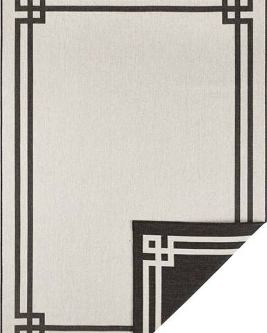 Černo-krémový venkovní koberec Bougari Manito, 160 x 230 cm