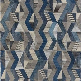 Modrý vlněný koberec Flair Rugs Asher, 200 x 290 cm