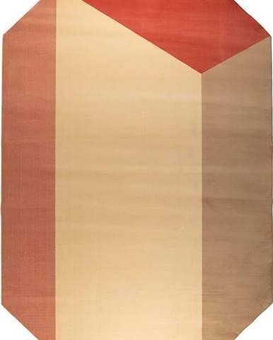 Hnědo-červený koberec Zuiver Harmony,160x230cm