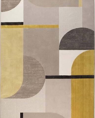 Žluto-šedý koberec Zuiver Hilton,160x230cm