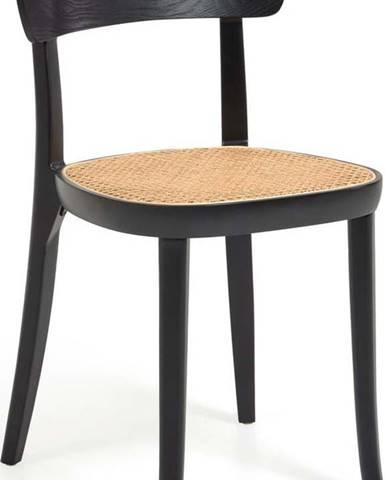 Černá jídelní židle z bukového dřeva La Forma Romane