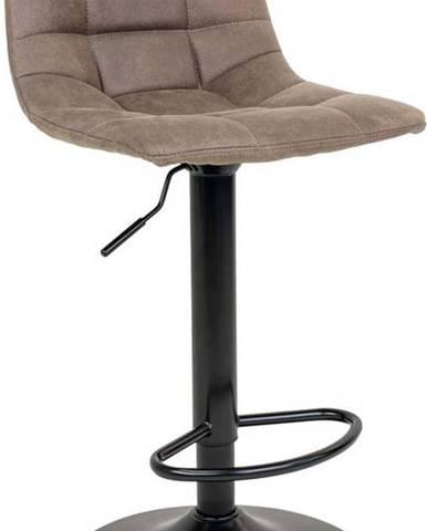 Sada 2 barových židlí s světle hnědým potahem House Nordic Middelfart