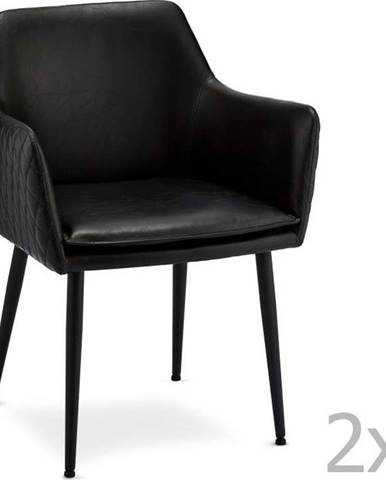 Sada 2 černých židlí Furnhouse Shiva