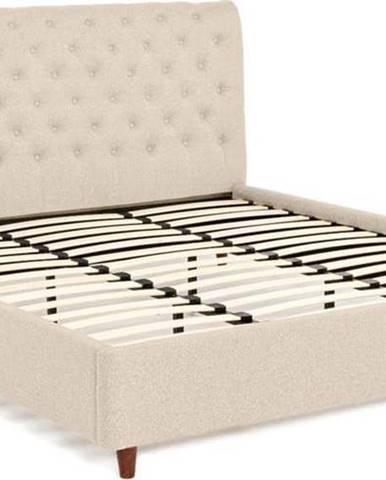 Béžová dvoulůžková postel Chez Ro Ringsted,180x200cm