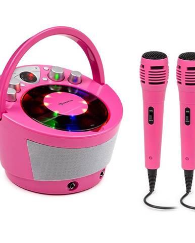 Auna SingSing BT, karaoke systém, 2 x mikrofon, CD přehrávač, BT, LED světelný efekt, přenosný