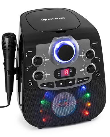 Auna StarMaker 2.0, karaoke systém, bluetooth funkce, CD přehrávač, včetně mikrofonu