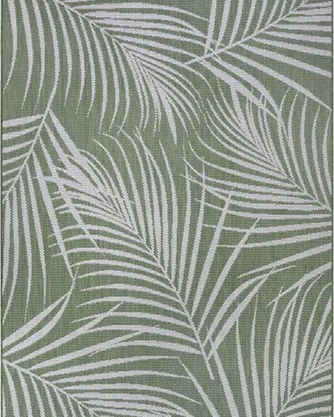 Ragami Zelený venkovní koberec Ragami Flora, 120 x 170 cm