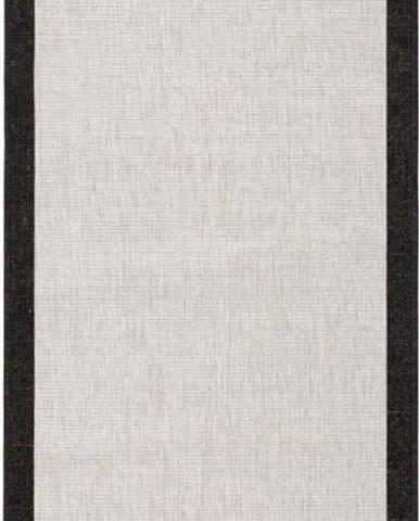 Černo-krémový venkovní koberec Bougari Panama, 80x350 cm