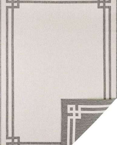 Šedo-krémový venkovní koberec Bougari Manito, 120 x 170 cm