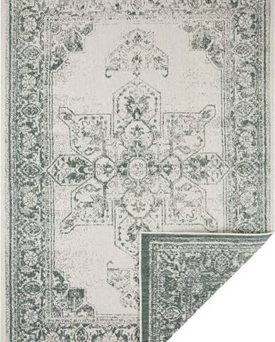 Zeleno-krémový venkovní koberec Bougari Borbon, 120 x 170 cm