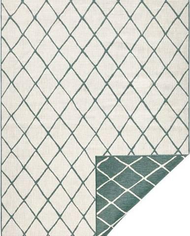 Zeleno-krémový venkovní koberec Bougari Malaga, 120x170 cm