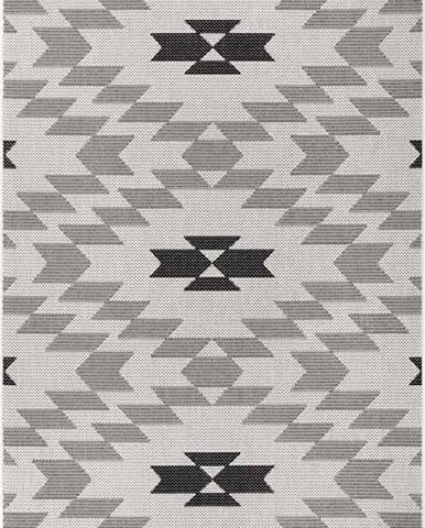 Černo-bílý venkovní koberec Ragami Geo, 120 x 170 cm