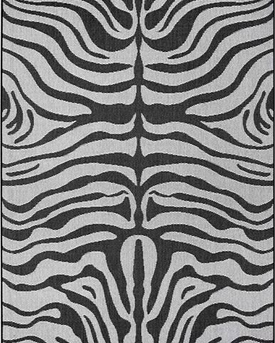 Černo-šedý venkovní koberec Ragami Safari, 160 x 230 cm