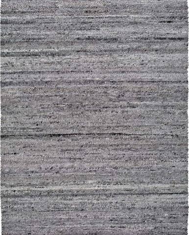 Tmavě šedý koberec z recyklovaného plastu Universal Cinder, 200 x 300 cm