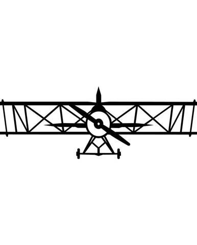 Černá nástěnná dekorace Tanelorn Plane